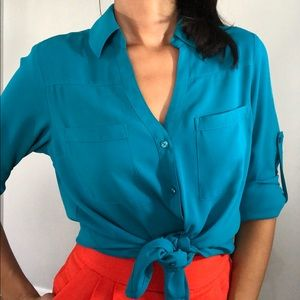 Express Turquoise The Portofino Shirt
